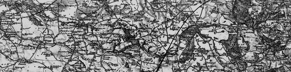 Old map of Over Peover in 1896