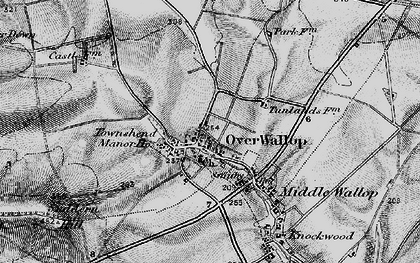 Old map of Over Wallop in 1898