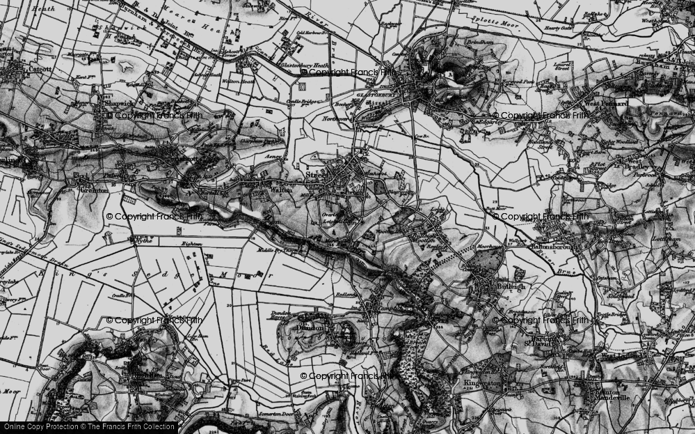 Old Map of Historic Map covering Leigh Holt in 1898