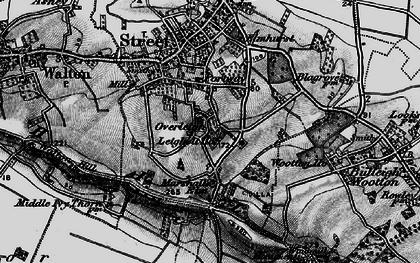Old map of Wooton Ho in 1898