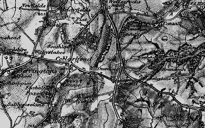 Old map of Wetley Abbey in 1897