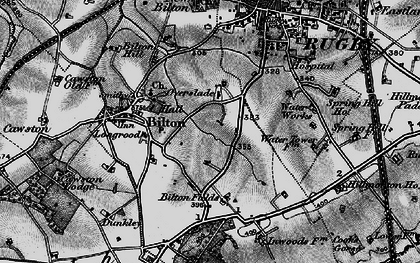 Old map of Ashlawn Ho in 1898