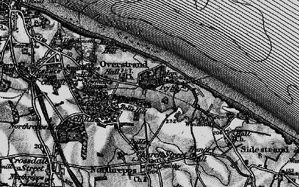 Old map of Overstrand in 1899