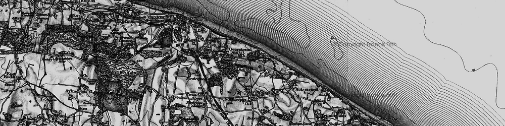 Old map of Toll's Hill in 1899