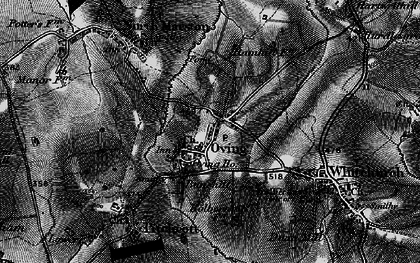 Old map of Oving in 1896