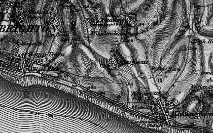Old map of Wick Bottom in 1895