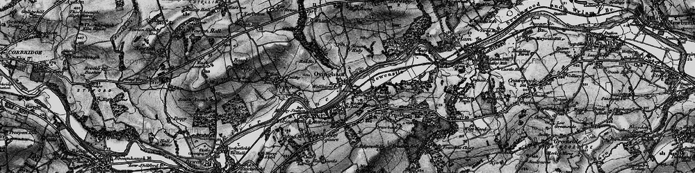 Old map of Ovingham in 1898