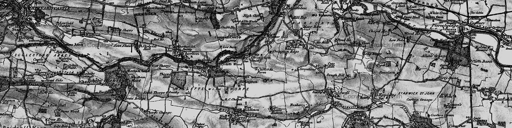 Old map of Wycliffe Wood in 1897