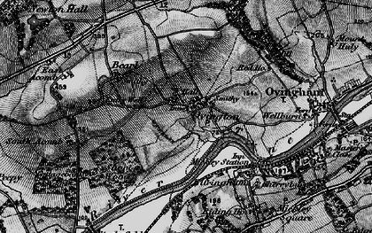 Old map of Whittle Burn in 1898