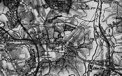Old map of Owlcotes in 1896