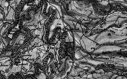 Old map of Owlpen in 1897
