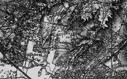 Old map of Windsor Ride in 1895