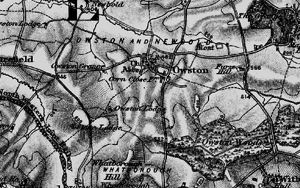 Old map of Whithcote Hall in 1899