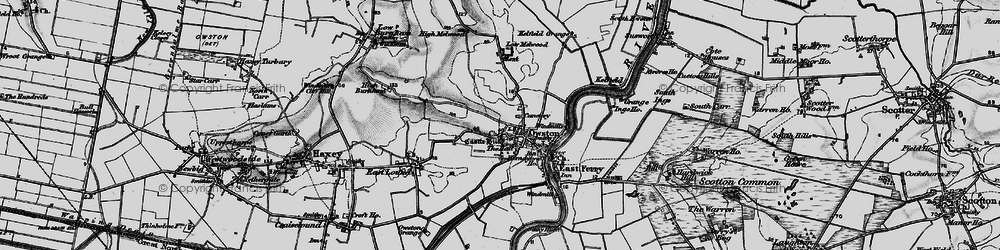 Old map of Owston Ferry in 1895
