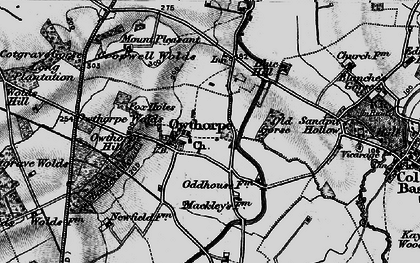 Old map of Wolds Hill in 1899