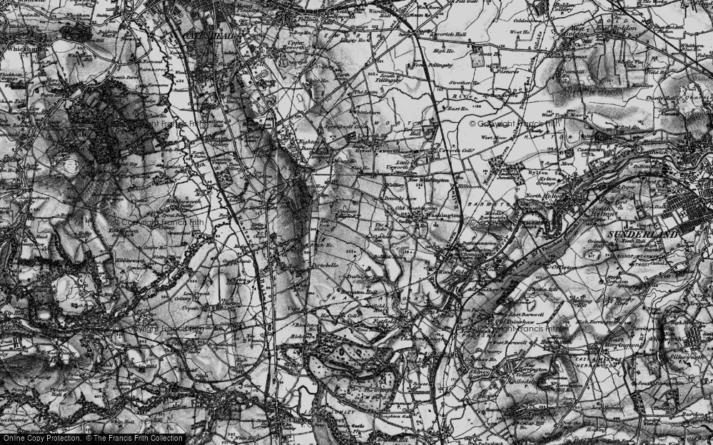 Old Map of Oxclose, 1898 in 1898