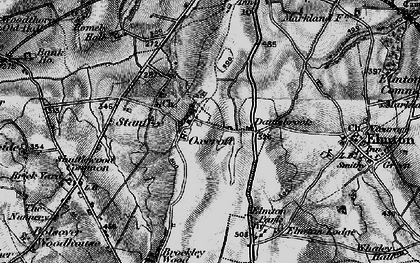 Old map of Oxcroft in 1896