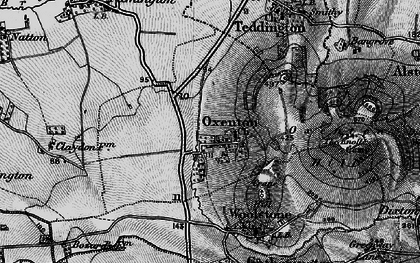 Old map of Woolstone Hill in 1896