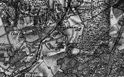 Old map of Oxshott in 1896