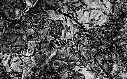 Old map of Oxted in 1895