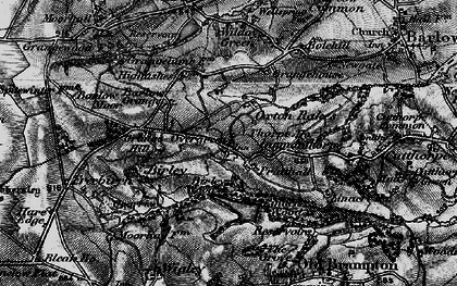 Old map of Oxton Rakes in 1896