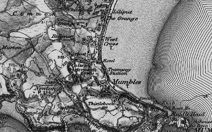 Old map of Oystermouth in 1897