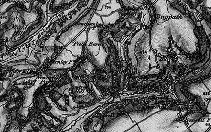 Old map of Ozleworth in 1897
