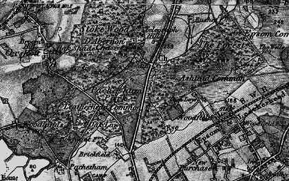 Old map of Ashtead Common in 1896