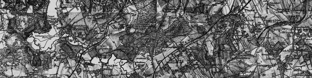 Old map of Wood Field in 1896