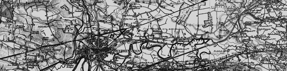 Old map of Paddington in 1896