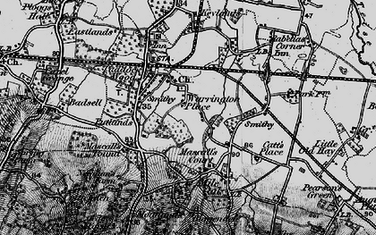Old map of Paddock Wood in 1895