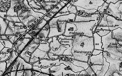 Old map of Lawness in 1896