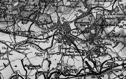 Old map of Padiham in 1896