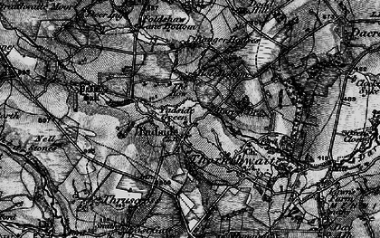 Old map of Yates Ho in 1898