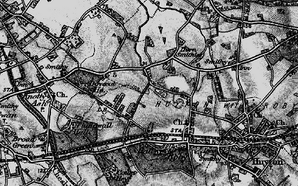 Old map of Page Moss in 1896