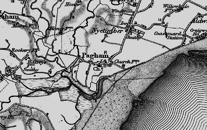 Old map of Pagham in 1895