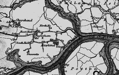 Old map of Wallasea Island in 1895