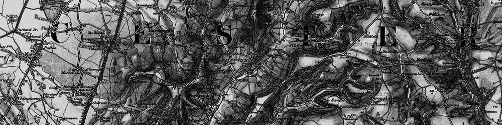 Old map of Painswick in 1896