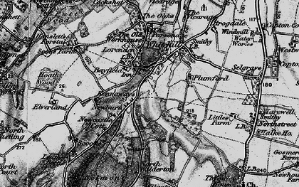 Old map of Painter's Forstal in 1895
