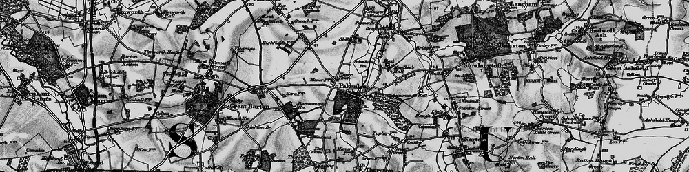 Old map of Pakenham in 1898