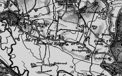 Old map of Palmer Moor in 1897