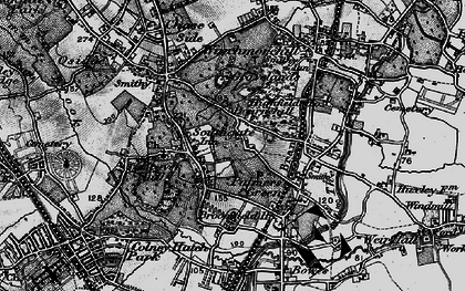 Old map of Palmers Green in 1896