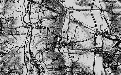 Old map of Palterton in 1896