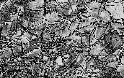 Old map of Pamber End in 1895