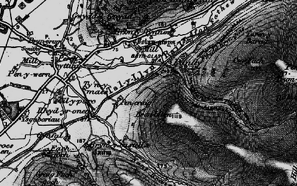 Old map of Afon Cwm-pandy in 1899
