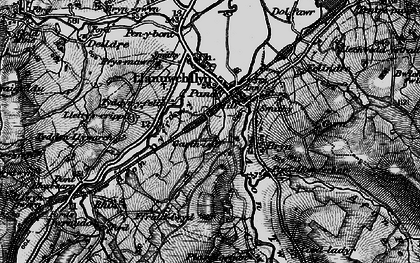 Old map of Afon Twrch in 1899