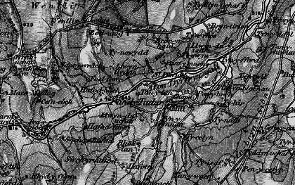 Old map of Afon Dyffryn-gall in 1899