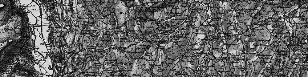 Old map of Afon Derfyn in 1899