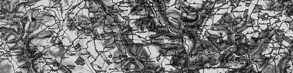 Old map of Panfield in 1896