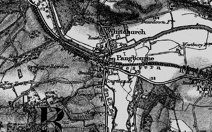 Old map of Pangbourne in 1895